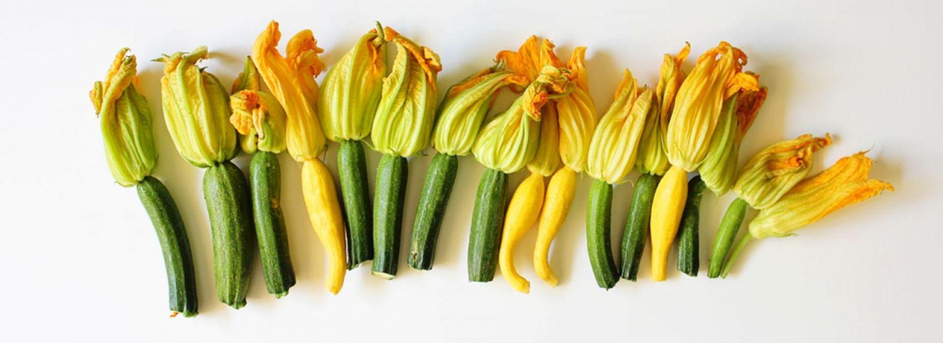 Mini Zucchini with Flower